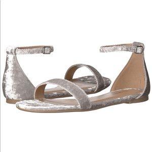 Call It Spring Velvet Ankle Strap Sandals